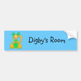 Pegatina para el parachoques de Digby Dino Pegatina Para Auto