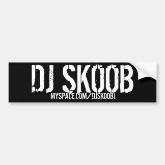 PEGATINA PARA EL PARACHOQUES DE DJ SKOOB PEGATINA PARA AUTO