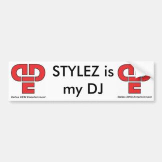 Pegatina para el parachoques de DJ STYLEZ Pegatina Para Auto