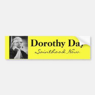 Pegatina para el parachoques de Dorothy Day Pegatina Para Auto