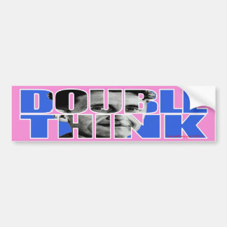 Pegatina para el parachoques de Doublethink Etiqueta De Parachoque