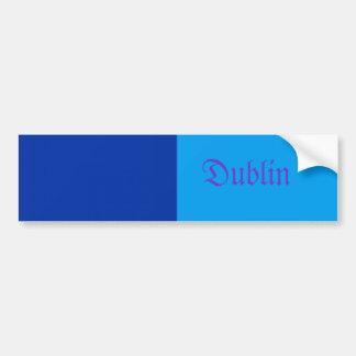 Pegatina para el parachoques de Dublín Etiqueta De Parachoque