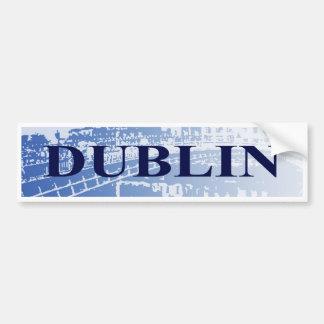 Pegatina para el parachoques de Dublín Pegatina De Parachoque