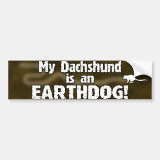 Pegatina para el parachoques de Earthdog del Dachs Pegatina Para Auto