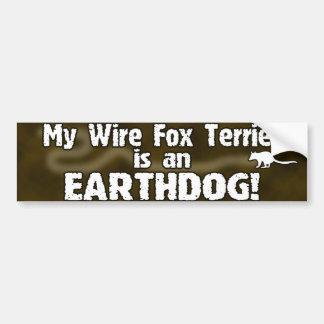 Pegatina para el parachoques de Earthdog del fox t Etiqueta De Parachoque