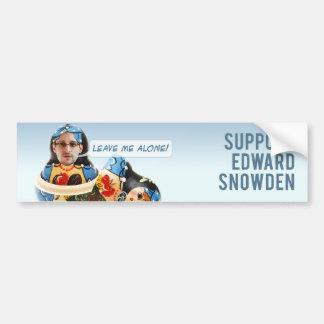 Pegatina para el parachoques de Edward Snowden de  Pegatina De Parachoque