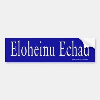 Pegatina para el parachoques de Eloheinu Echad (bl Pegatina Para Auto