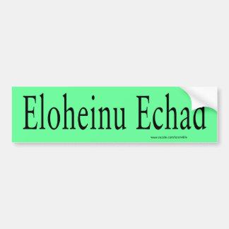 Pegatina para el parachoques de Eloheinu Echad (ne Pegatina Para Auto