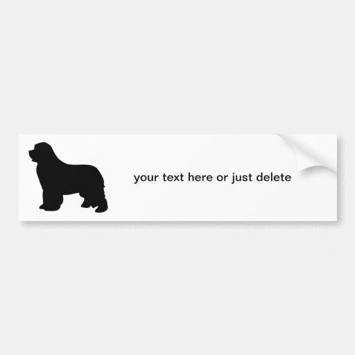 Pegatina para el parachoques de encargo del perro  etiqueta de parachoque