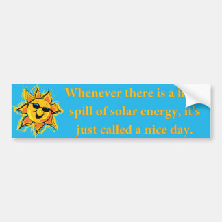 Pegatina para el parachoques de energía solar pegatina para auto