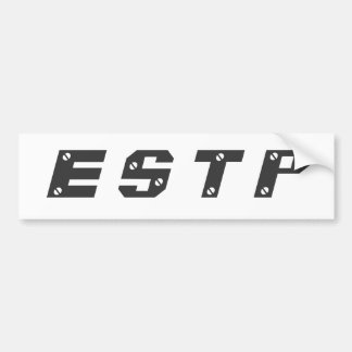 Pegatina para el parachoques de ESTP Pegatina De Parachoque