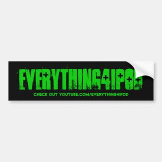 pegatina para el parachoques de everything4ipod etiqueta de parachoque