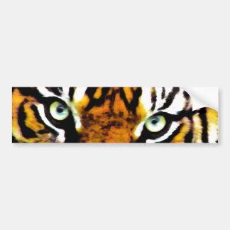 Pegatina para el parachoques de Eyes_ de los tigre Etiqueta De Parachoque