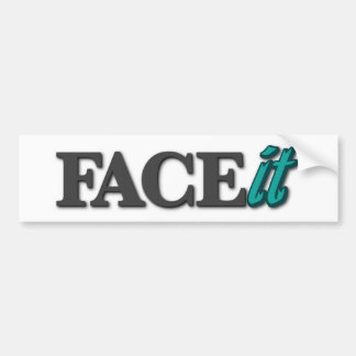 Pegatina para el parachoques de FACEit Etiqueta De Parachoque