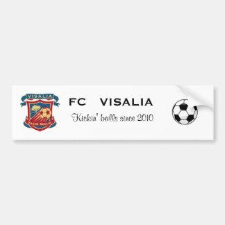 Pegatina para el parachoques de FC Visalia Pegatina Para Auto