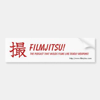 Pegatina para el parachoques de Filmjitsu Etiqueta De Parachoque