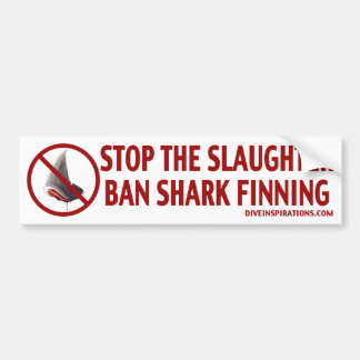 Pegatina para el parachoques de Finning del tiburó Etiqueta De Parachoque