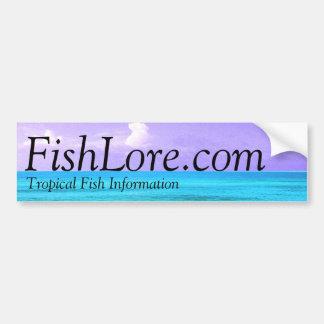 pegatina para el parachoques de FishLore.com Pegatina Para Auto
