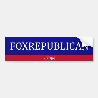 Pegatina para el parachoques de Foxrepublican Pegatina Para Auto
