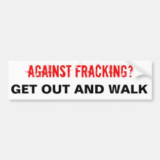 Pegatina para el parachoques de Fracking, blanca Pegatina Para Auto