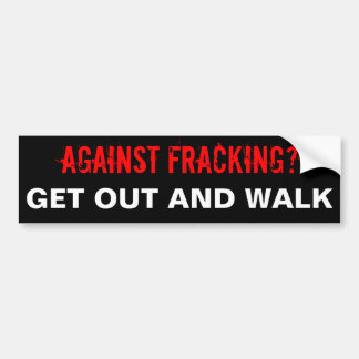 Pegatina para el parachoques de Fracking negra