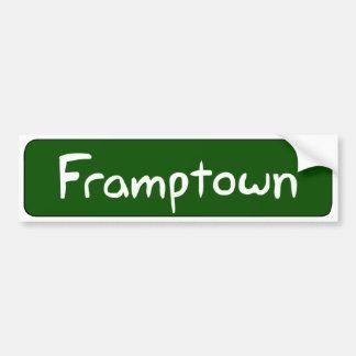 Pegatina para el parachoques de Framptown Pegatina Para Auto