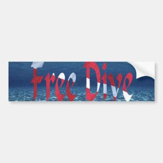 Pegatina para el parachoques de FreeDive Etiqueta De Parachoque