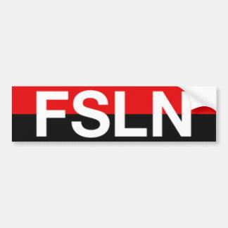 Pegatina para el parachoques de FSLN Pegatina De Parachoque