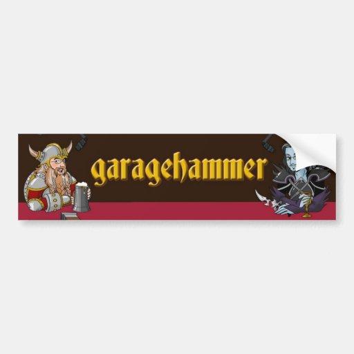 Pegatina para el parachoques de Garagehammer Pegatina Para Auto