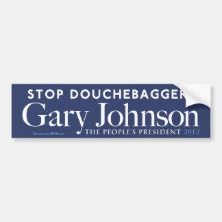 Pegatina para el parachoques de Gary Johnson Douch Pegatina De Parachoque