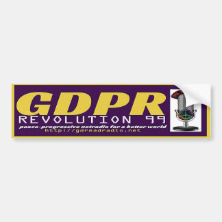 Pegatina para el parachoques de GDPR REVOLUTION99 Pegatina Para Auto