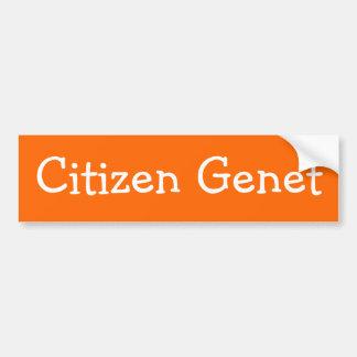 Pegatina para el parachoques de Genet del ciudadan Pegatina Para Auto