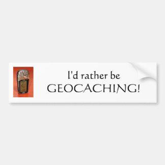Pegatina para el parachoques de Geocaching Pegatina Para Auto