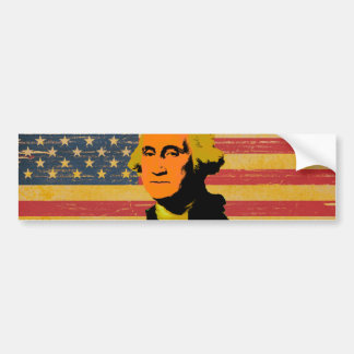 Pegatina para el parachoques de George Washington Pegatina Para Auto