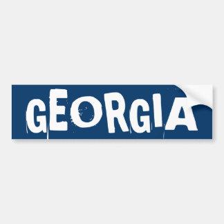 Pegatina para el parachoques de Georgia Pegatina De Parachoque