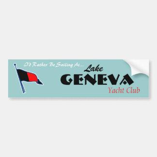 Pegatina para el parachoques de Ginebra Burgee Pegatina Para Auto