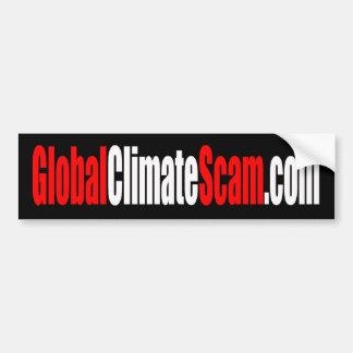 Pegatina para el parachoques de GlobalClimateScam Pegatina Para Auto