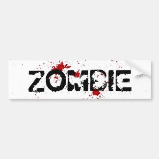 Pegatina para el parachoques de Gore del zombi Etiqueta De Parachoque