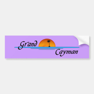 Pegatina para el parachoques de Gran Caimán Etiqueta De Parachoque