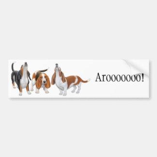 Pegatina para el parachoques de grito de los perro pegatina de parachoque