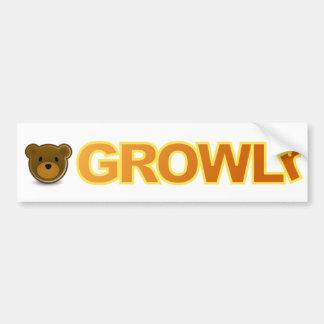 Pegatina para el parachoques de GROWLr Etiqueta De Parachoque