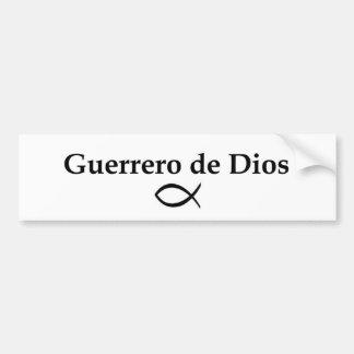 Pegatina para el parachoques de Guerrero de Dios Etiqueta De Parachoque