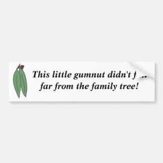 Pegatina para el parachoques de Gumnut Pegatina De Parachoque
