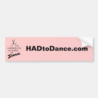 pegatina para el parachoques de HADtoDance.com Etiqueta De Parachoque