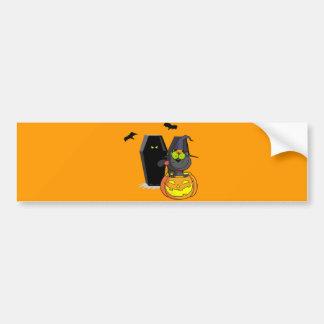 Pegatina para el parachoques de Halloween del gato Pegatina Para Auto