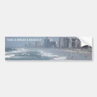 Pegatina para el parachoques de Hangin de la playa Etiqueta De Parachoque