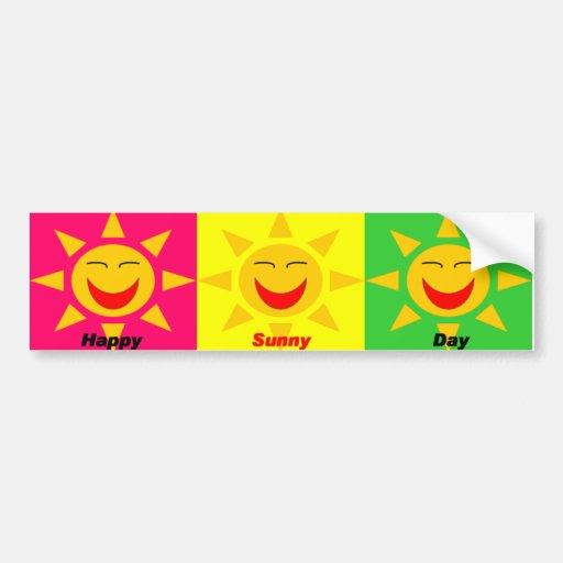 Pegatina para el parachoques de HappySunnyDay Pegatina De Parachoque