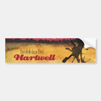 Pegatina para el parachoques de Hartwell Pegatina De Parachoque