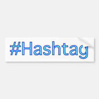 Pegatina para el parachoques de Hashtag Pegatina De Parachoque