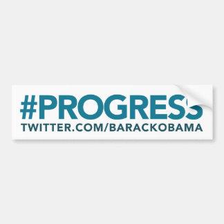 Pegatina para el parachoques de Hashtag del progre Pegatina De Parachoque
